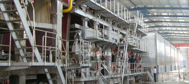 Tissue paper production line