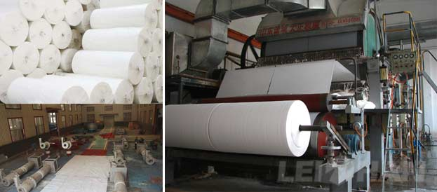 toilet tissue paper processing machine