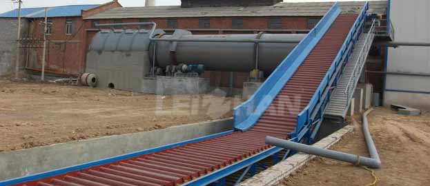 waste paper conveying process
