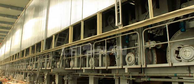 three wires cardboard paper machine