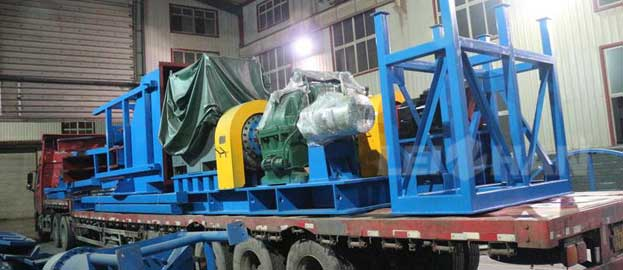 drum pulper transmission part and feed hopper