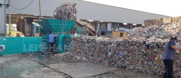 waste paper bailing machine