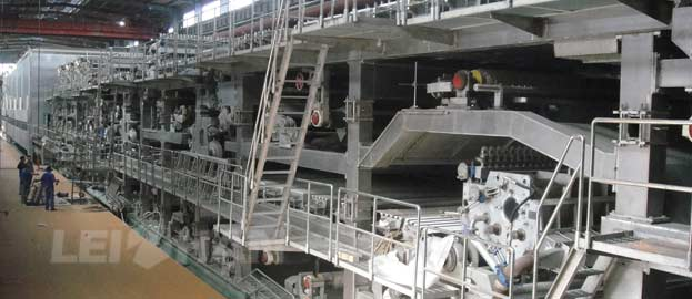 coated white board paper making machine