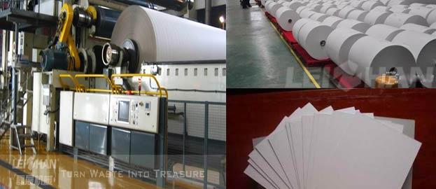 writing and printing paper making machine