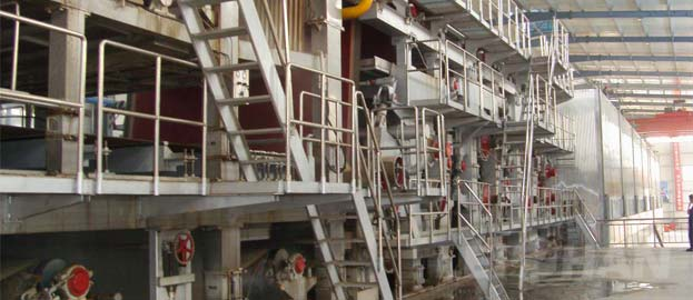production of greyboard paper machine