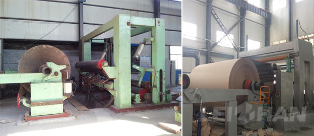2200mm overfeed paper rewinder