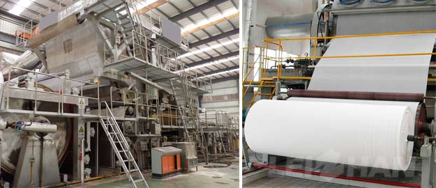 paper towel roll manufacturing machine from waste recycle