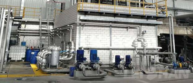 Multi-Disc Vacuum Filter In White Water Recycling System